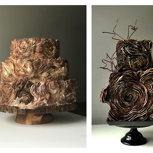 Wooden Textures with Artistic Twist - Creative Workshop with Albena Cake Design. LIVE ON ZOOM