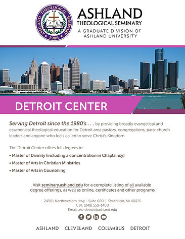 Ashland Theological Seminary Detroit Poster
