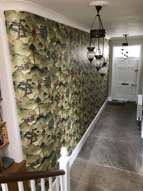 ... Linwood wallpaper from the Fable collection and has just had it put in place in his Georgian Home in the hallway is really chuffed with the results and ...