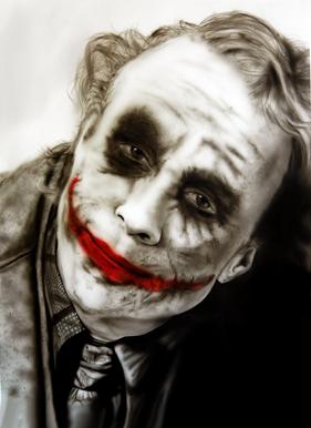 Airbrush Joker airbrushed airbrushing