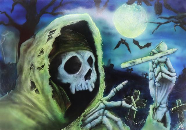 Airbrush Death Skull airbrushed airbrushing