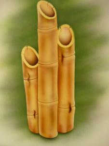 Airbrush Bamboo practice airbrushed airbrushing