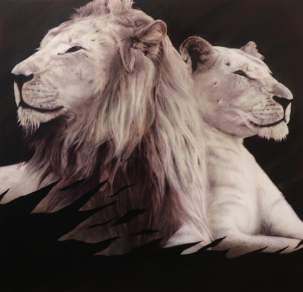 Airbrush Lions airbrushed