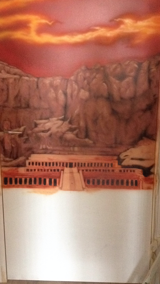 airbrush Egyptian Mural landscape airbrushed airbrushing