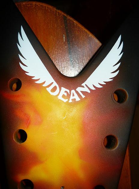 airbrush dime dean bass guitar custom airbrushed airbrushing