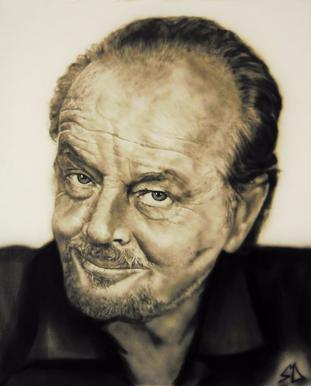 Airbrush Jack Nicholson airbrushed airbrushing