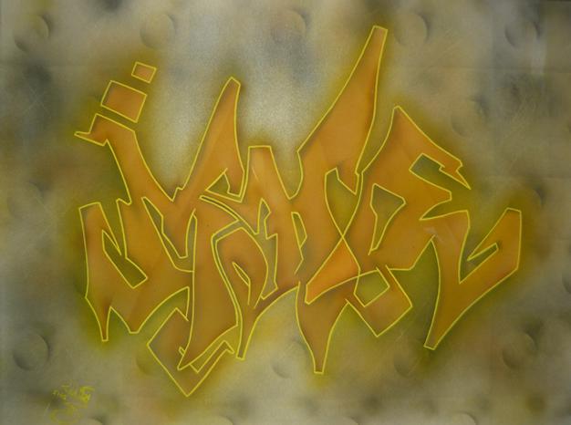 Airbrush graffiti piece tag airbrushed airbrushing