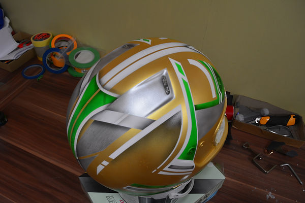 airbrush custom kart karting helmet airbrushing airbrushed