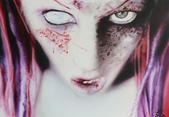 Airbrush Zombiegirl airbrushed airbrushing