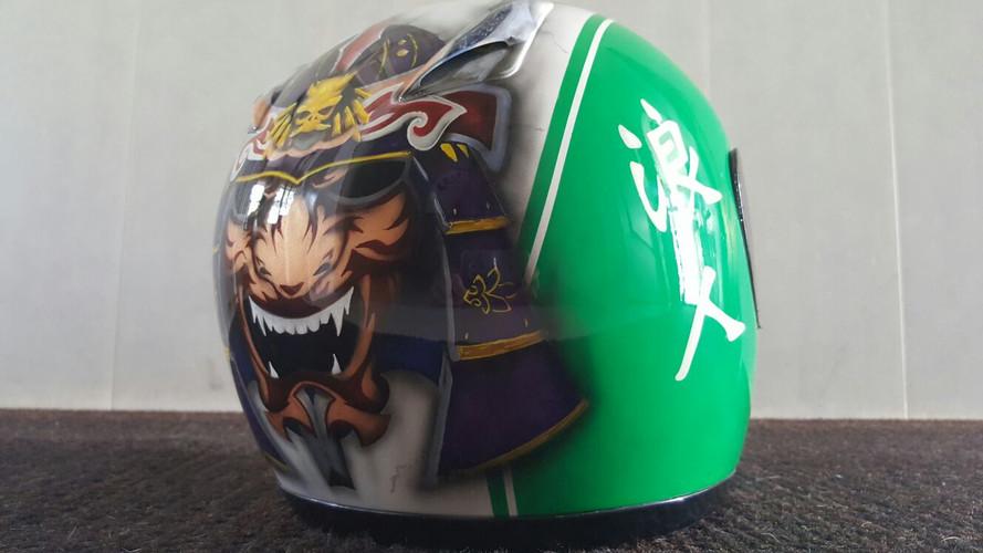 Airbrush Motor Helmet Custom airbrushed airbrushing