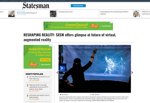 Reshaping Reality: SXSW offers glimpse at future of virtual, augmented reality