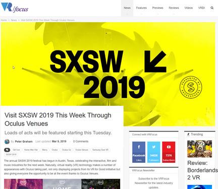 Visit SXSW 2019 This Week Through Oculus Venues