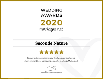 Wedding award mariages.net Avis positifs Mariages