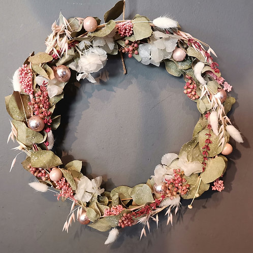 Couronne murale Givre rose