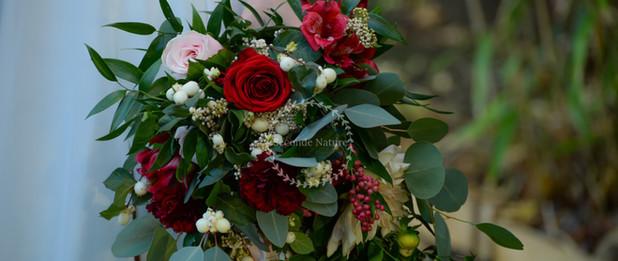 Bouquet de mariée cascade
