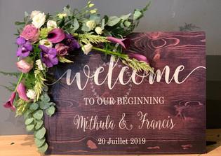 Habillez de fleurs vos panneaux de bienvenue
