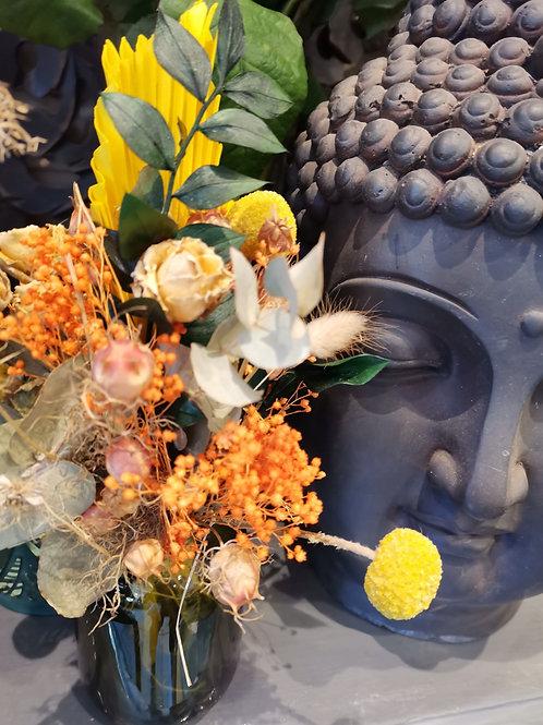 Bouquet fleurs séchées Carnaval d'automne