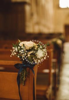 Bouquets de bancs d'église