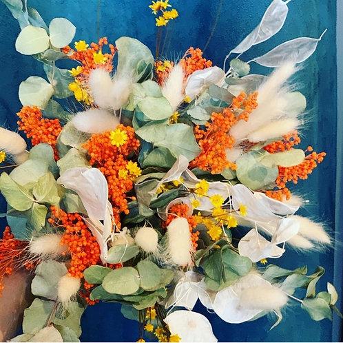 Bouquet de fleurs séchées Cueillette d'automne - A partir de