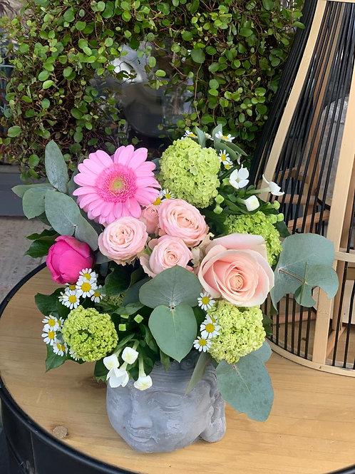 Bouquet pastel et blanc