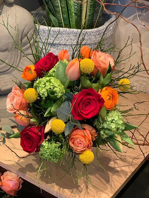 Bouquet tons chauds