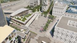 Gare Saint-Denis Pleyel vue 2
