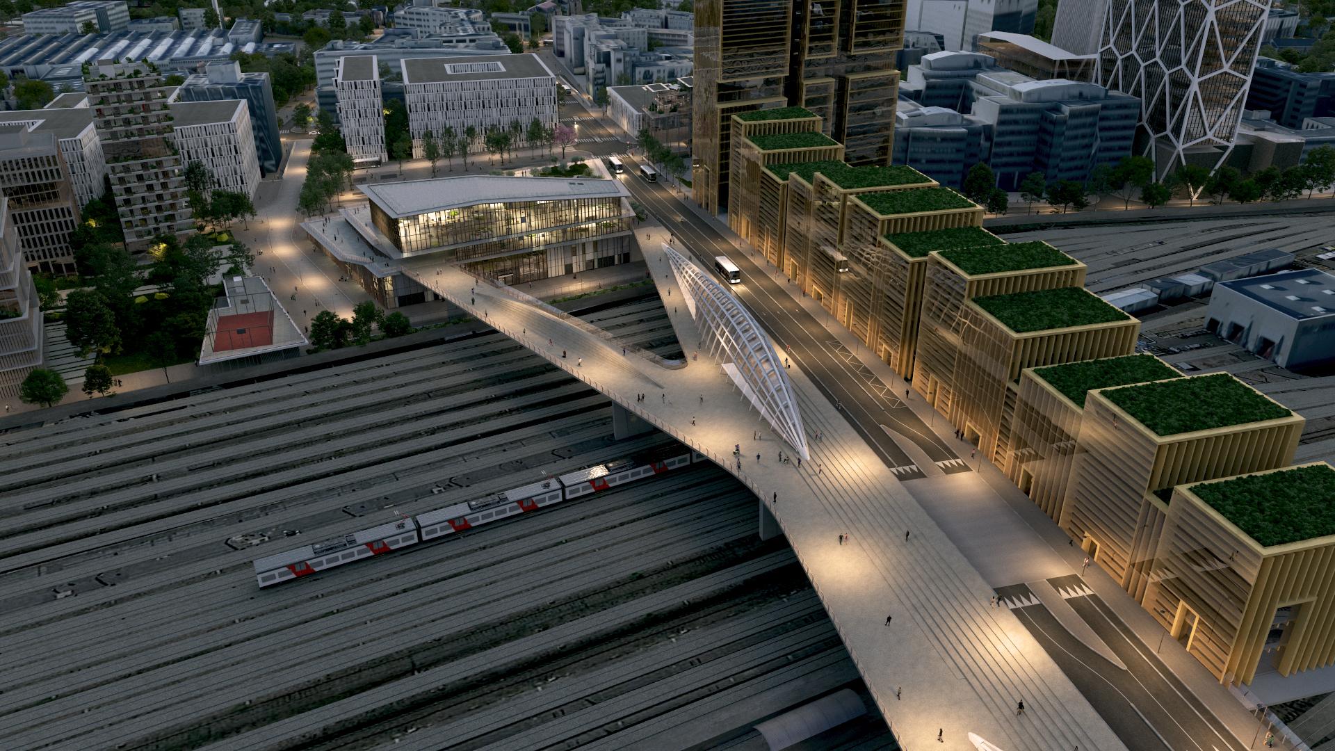 Gare Saint-Denis Pleyel vue 9
