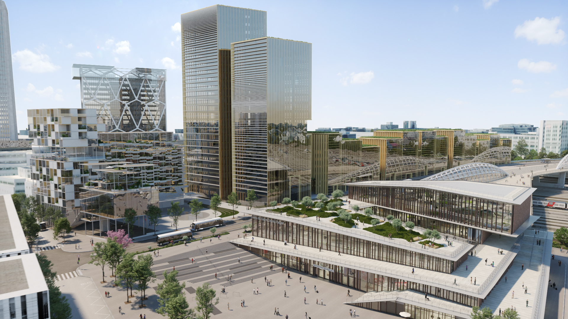 Gare Saint-Denis Pleyel vue 5