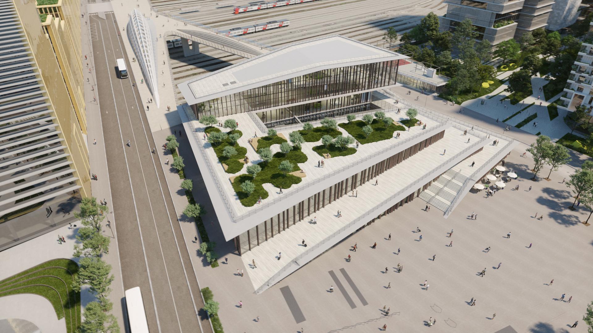 Gare Saint-Denis Pleyel vue 3