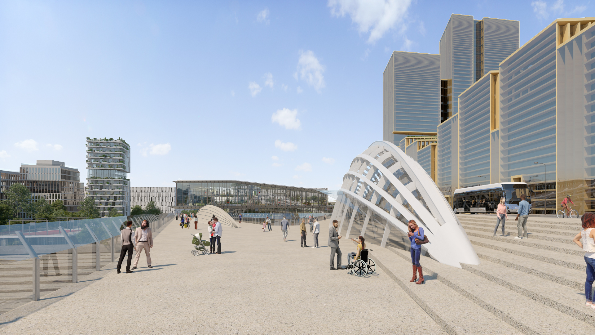Gare Saint-Denis Pleyel vue 8