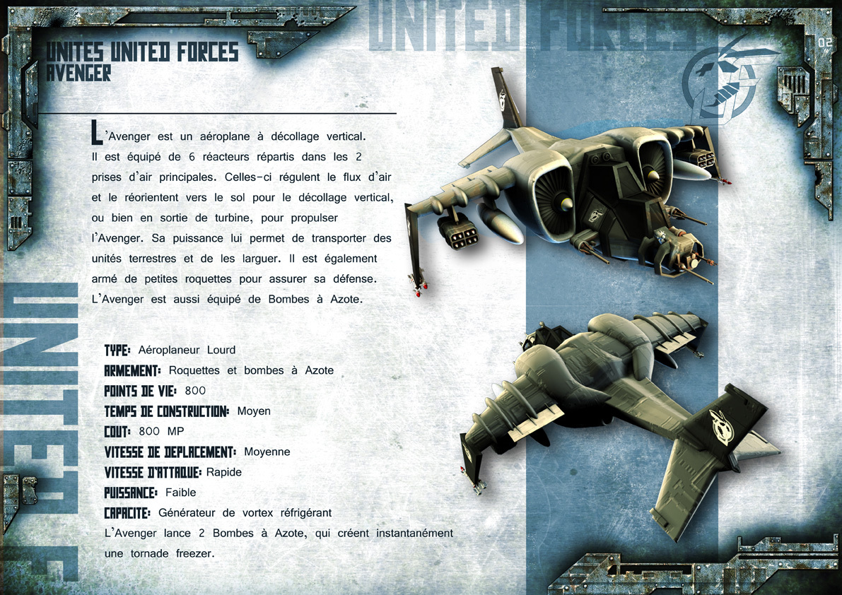 Broken Earth - Unités United Forces 1