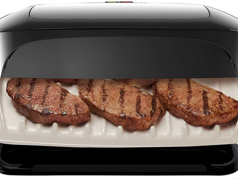 George Foreman 5 Serving Removable Plate Grill and Panini Press, Platinum, GRP472P