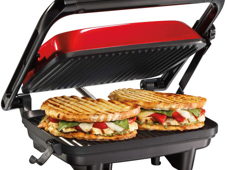 Hamilton Beach Electric Panini Press Grill With Locking Lid