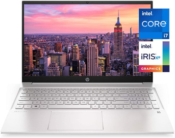 HP Pavilion 15-inch Laptop, 11th Generation Intel Core i7-1165G7 Processor, Intel Iris Xe Graphics