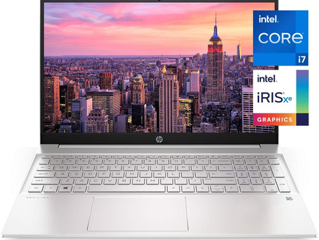 HP Pavilion 15-inch Laptop, 11th Generation Intel Core i7-1165G7 Processor, Intel Iris Xe Graphics