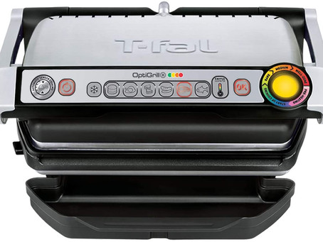 T-Fal GC7 Opti-Grill Indoor Electric Grill, 4-Servings, Automatic Sensor Cooking
