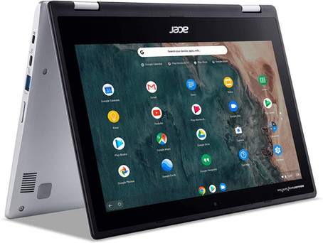 """Acer Chromebook Spin 311 Convertible Laptop, Intel Celeron N4020, 11.6"""" HD Touch"""