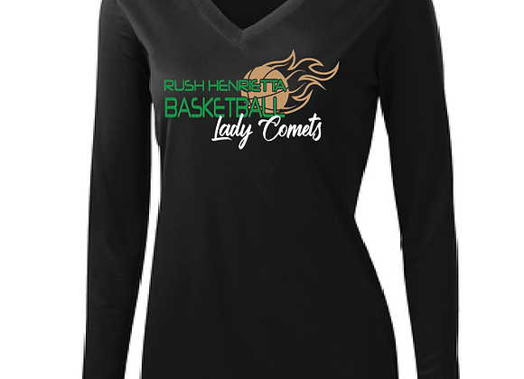 RH Lady Comets BB - Ladies SportTek LS V-Tee
