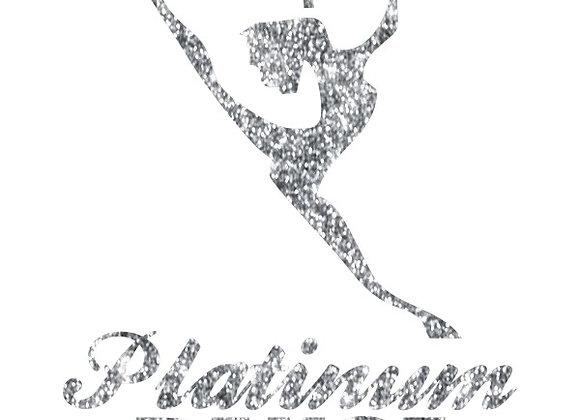 Platinum Dance Glitter Decal