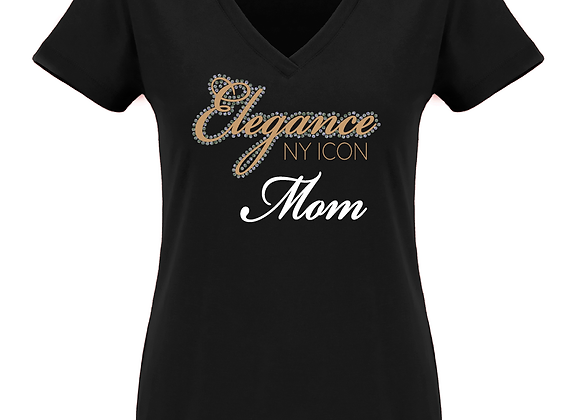 Elegance Mom Fitted V Tee