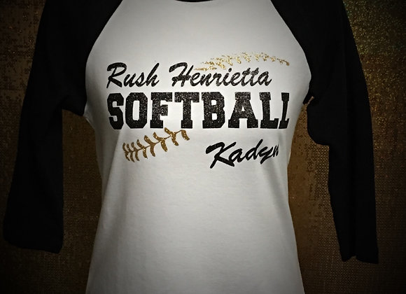 RH Softball 3/4 Sleeve Laces Tee