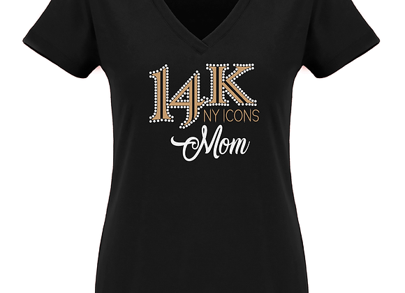 14K Mom Fitted V Tee