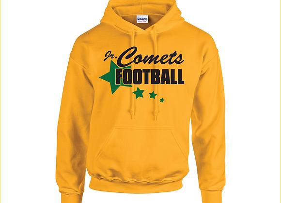 Jr Comets Football 3 Glitter Hoodie