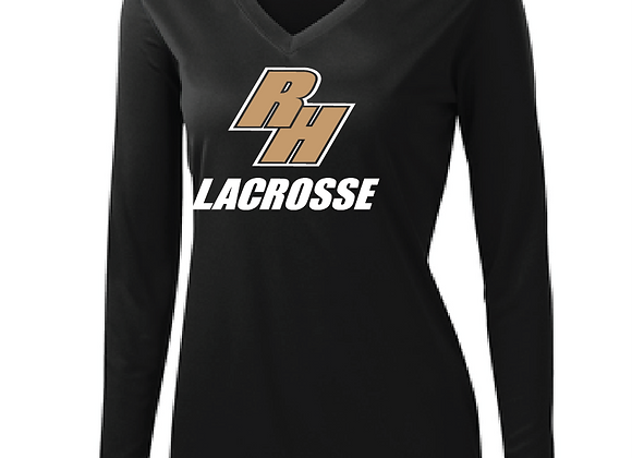 RH LAX Ladies Performance LS VTee