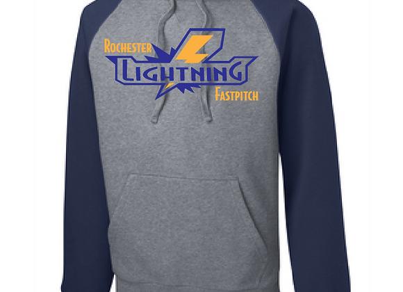 Rochester Lightning Raglan Hoodie
