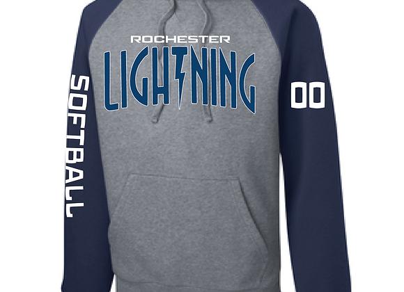 Rochester Lightning Raglan Hoodie D3