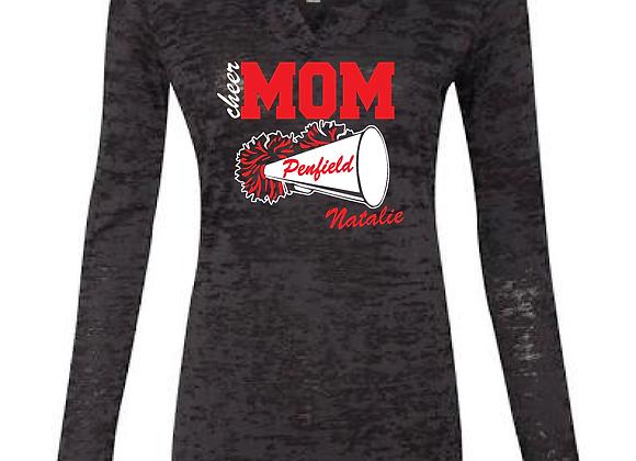 Glitter Penfield Cheer Mom Burnout Hoodie