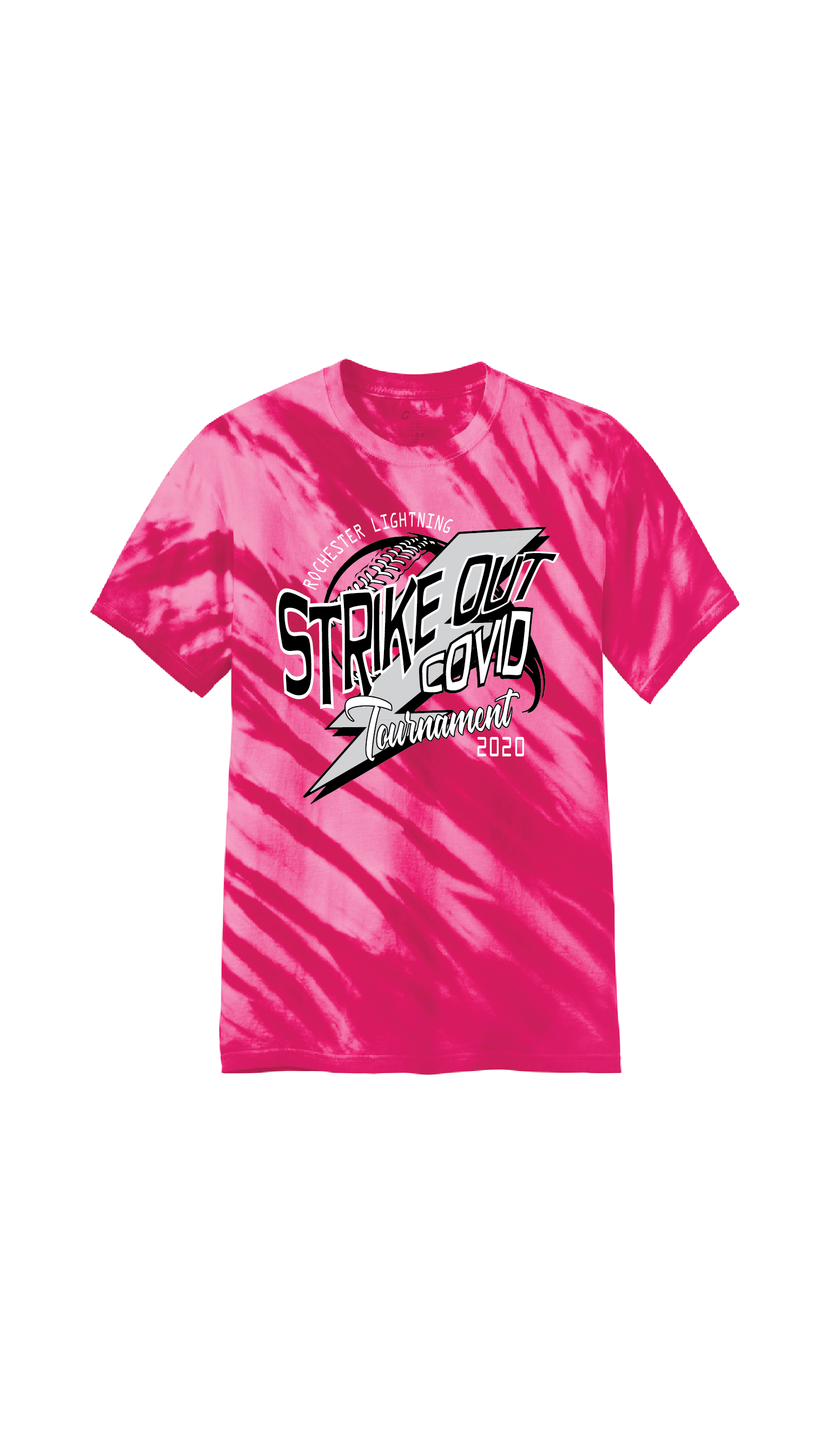 SOC tee Front pink td