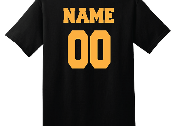 Personalize any apparel item with a Name & Number