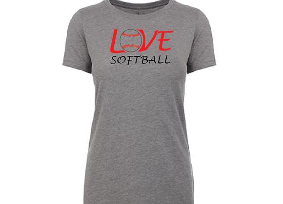 Love Softball Cotton/Poly TEE